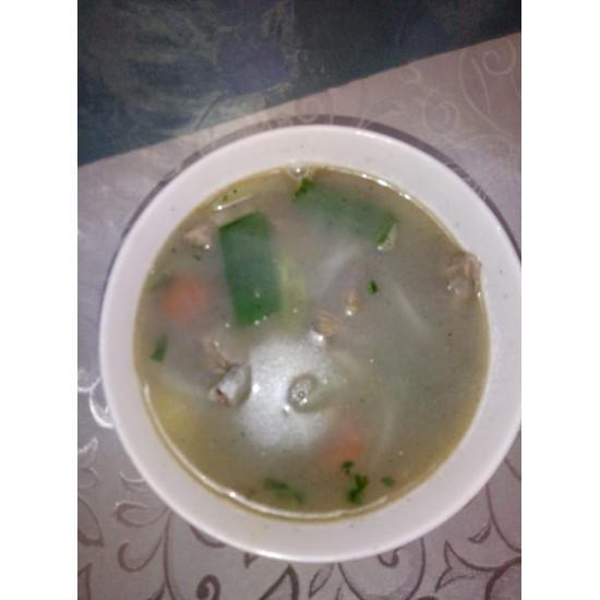 Ян Ру Тан (мясо баранины, болгарский перец, зелёный лук)