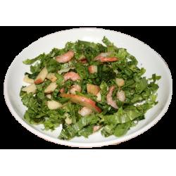 Жанет (яблоки, креветки, листья салата)