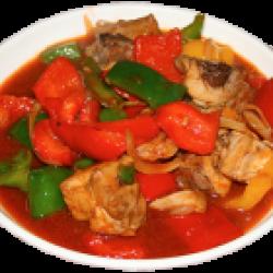 Лазджи (болгарский перец, курица )