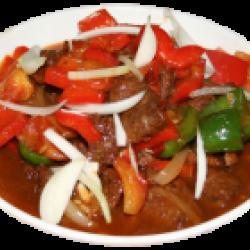 Лазру (Болгарский перец, мясо, лук, специи)