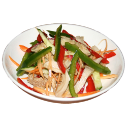 Ляньбяньдузы (требуха, огурцы, болгарский перец, лук, специи)