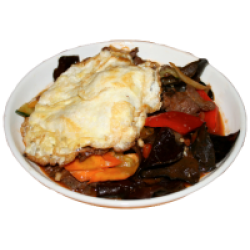 Мошуру (грибы древесные, мясо, овощи, яйцо)