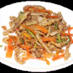 Шаньшань дузы (хрустящая жареная требуха, болгарский перец, специи)