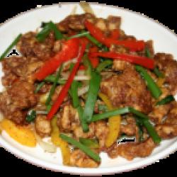 Шаншаянру (жареное мясо баранины, болгарский перец)