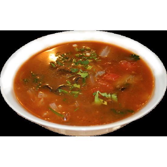 Сюантанру (мясо, фунчёза, пекинская капуста, древесные грибы, овощи, лук)