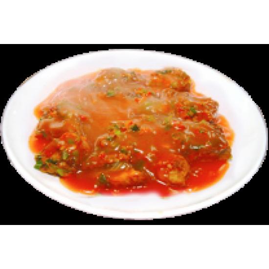 Тансуюкар (судак кусочками в красном соусе)
