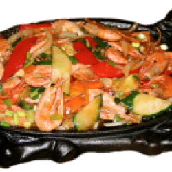 Тебяншаухунша (креветки жареные, болгарский перец)