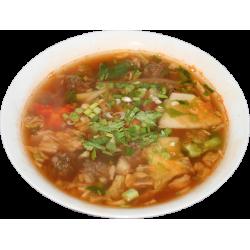 Захуйтан (фрикадельки, древесные грибы, фунчёзв, специи, лук)