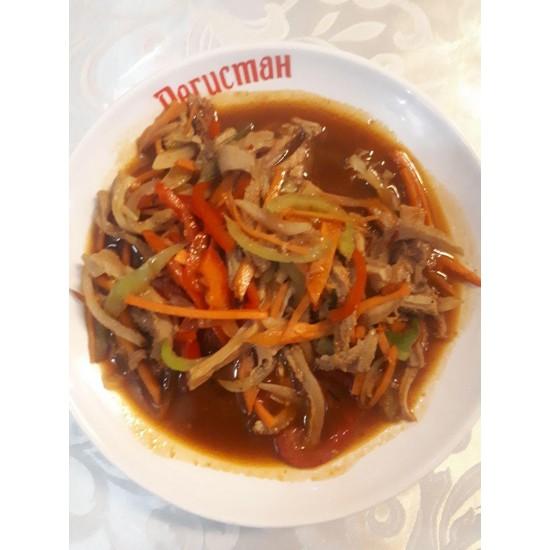 Карынсай (Жареная требуха, зелёный лук, специи)